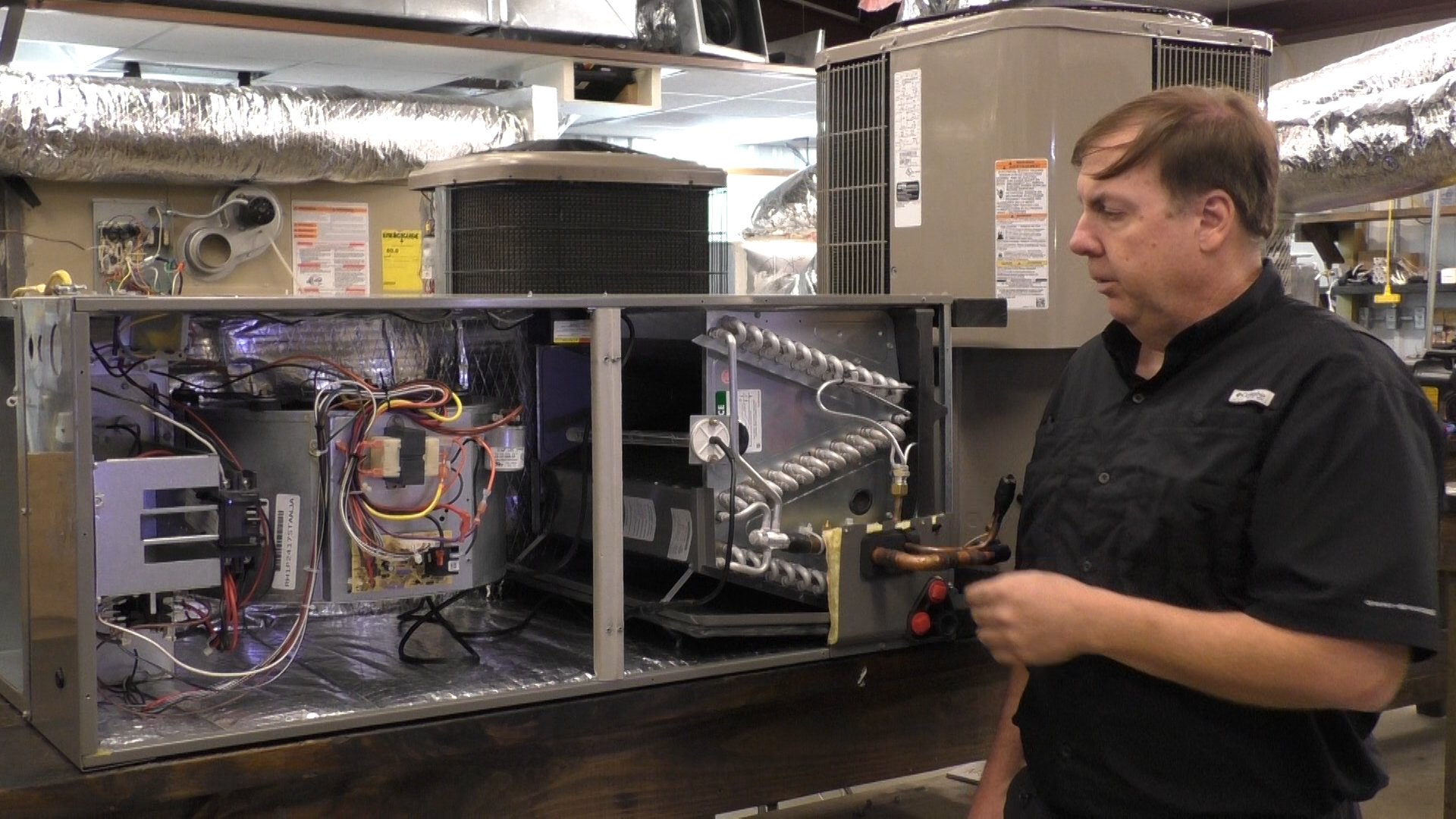 Training Center of Air Conditioning and Heating instructor Chris Walters talks about UV Lite Cam in his HVAC classes
